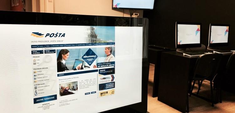 Predavanje o primeni tehnologija responsive web dizajna za JP Pošta Srbije u Krojačevoj školi