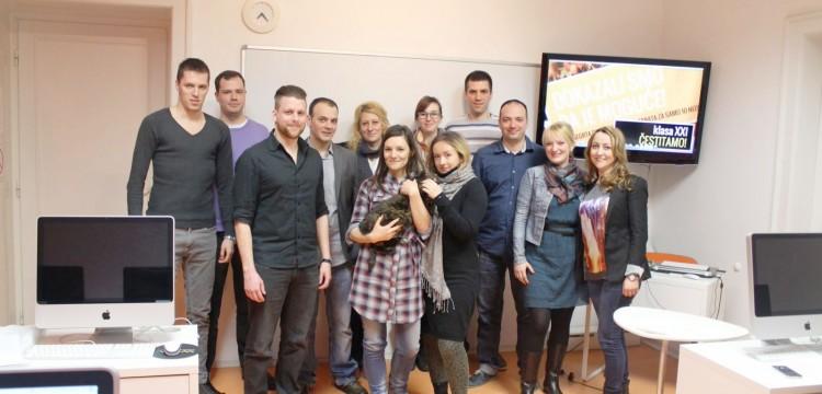 Zasluženi uspeh i očigledna sreća! Čestitamo grupi XXI – postali su web dizajneri!