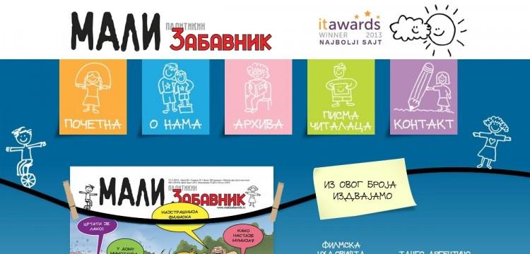 Novi projekat učenika Krojačeve škole - Web izdanje Malog Politikinog Zabavnika