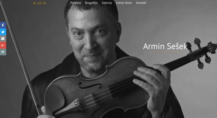 Armin Sešek, prezentacija profesora violine.