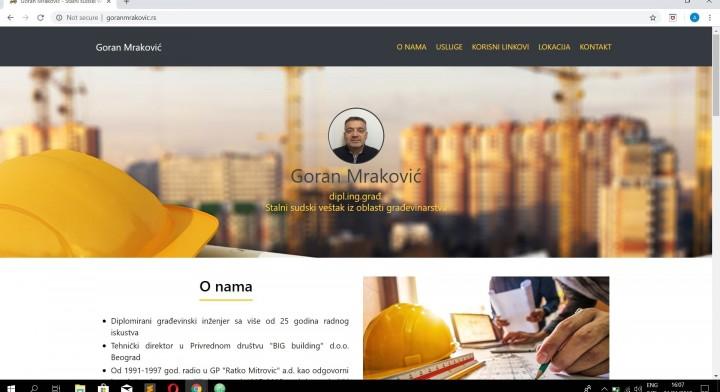 Websajt za Stalni sudski vestak - Goran Mrakovic