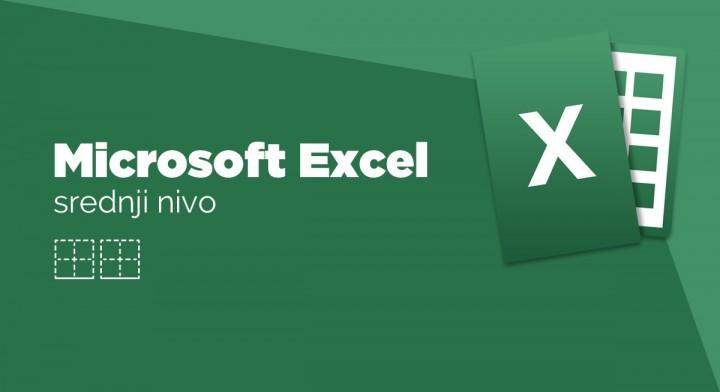 Grupna slika MS Excel, srednji nivo