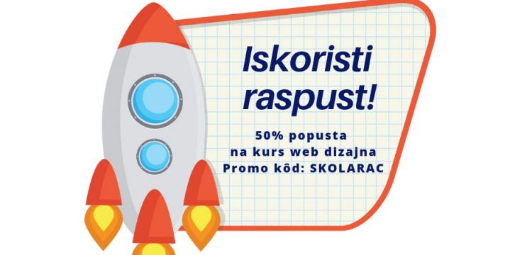 Popust za školarce! Super prilika da naučiš web dizajn!