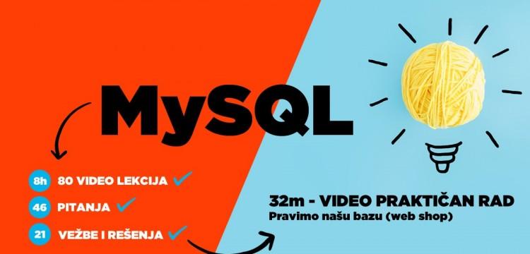 NOVO! Objavljen je najtemeljniji online kurs za MySQL! Osam sati video lekcija