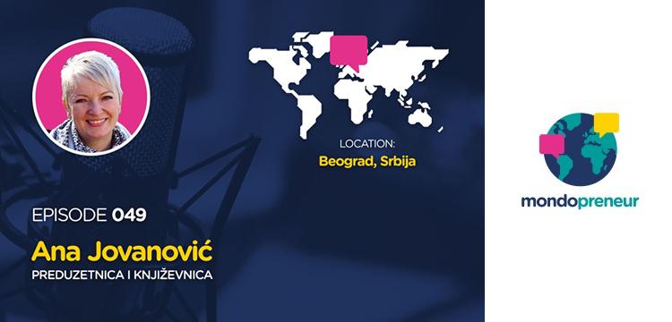 Podcast MONDOPRENEUR: Ana Jovanović, direktorka Krojačeve škole